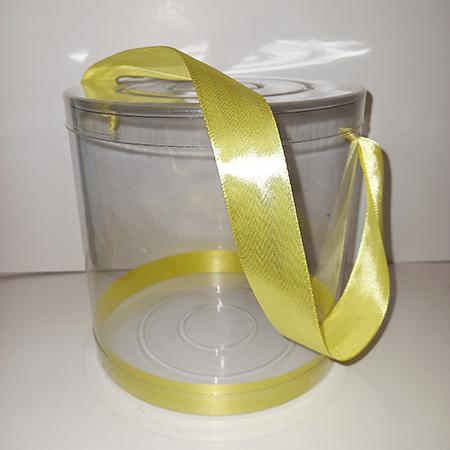 Прозрачный тубус с желтой лентой