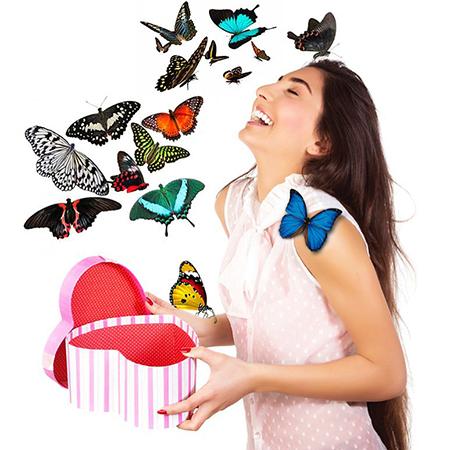 Салют из 13 живых бабочек