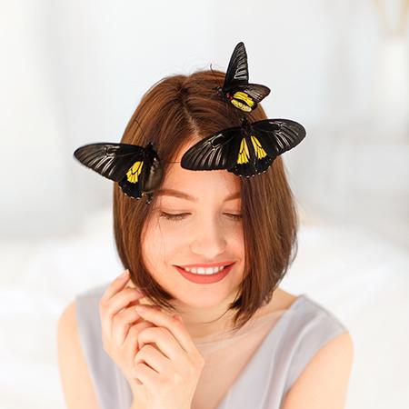 Портретная съёмка с живыми бабочками